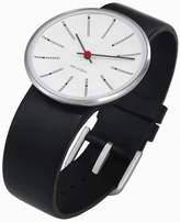 Rosendahl Arne Jacobsen Bankers Unisex Watch 43440 with Black Calf Skin Strap (Medium)