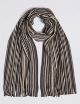 Marks and Spencer Striped Raschel Scarf