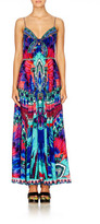 Camilla EXCLUSIVE Sky Fall Long Dress With Tie Front