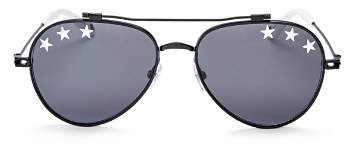 Givenchy Women's Embellished Brow Bar Aviator Sunglasses, 58mm