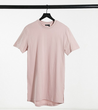 ASOS DESIGN Tall longline T-shirt with side slits in lilac