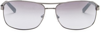 GUESS 66mm Rectangular Metal Frame Sunglasses
