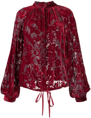 Ann Demeulemeester Floral-Jacquard Long-Sleeved Shirt
