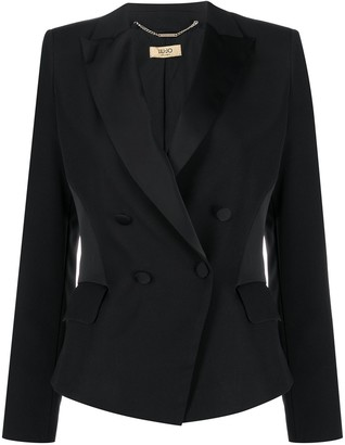 Liu Jo Double-Breasted Satin Insert Blazer