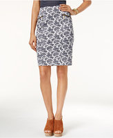 MICHAEL Michael Kors Woodbrook Paisley-Print Pencil Skirt