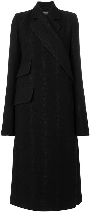 Ann Demeulemeester wrap single breasted coat