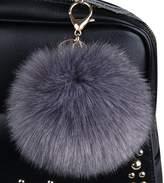 Genda 2Archer 2Pcs/Set 10CM Faux Fur Pom Pom Ball Keychain for Car Key Ring and Bag