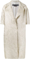 Rochas brocade short sleeve coat - women - Polyester/Polyamide/Silk - 40