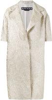 Rochas brocade short sleeve coat