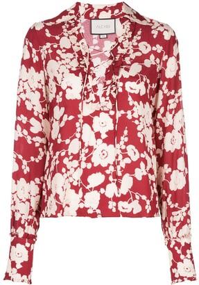 Alexis poppy print blouse