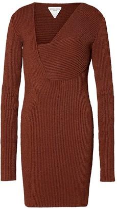 Bottega Veneta Rust Sable Knit Dress
