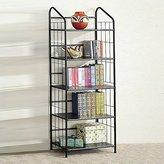 Coaster Home Furnishings Coaster Five Tier Black Metal Bookcase