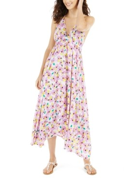 Kate Spade Floral Halter Maxi Swim Cover-Up Dress Women's Swimsuit
