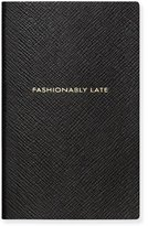 "Smythson Fashionably Late"" Panama Notebook, Black"