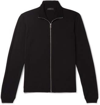 Prada Slim-Fit Virgin Wool Zip-Up Sweater