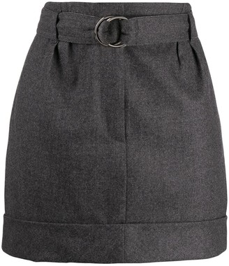 Brunello Cucinelli Belted Mini Skirt