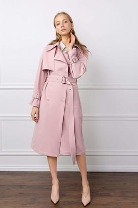 J.ING Preta Pale Pink Trench Coat