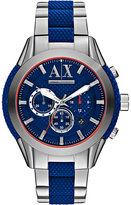Armani Exchange Ax1386 Silicone And Steel Watch