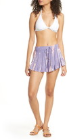 Surf.Gypsy Tie Dye Cover-Up Ruffle Shorts