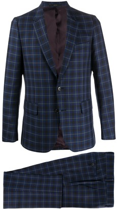 Paul Smith Check Print Two-Piece Suit