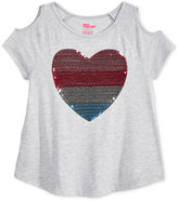 Epic Threads Sequin Cold-Shoulder T-Shirt, Big Girls (7-16), Only at Macy's
