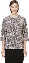 Giambattista Valli Black Leopard Cashmere Sweater