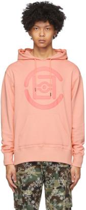Clot Pink Fifth Elemental Logo Applique Hoodie