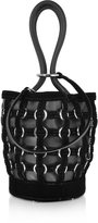 Alexander Wang Roxy Mini Black Bucket w/Metal Rings Cage