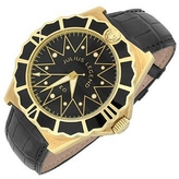 Julius Legend Leo - 18K Gold and Crocodile Leather Automatic Watch