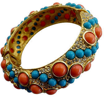 Kenneth Jay Lane Very French By Design Hinged Bangle