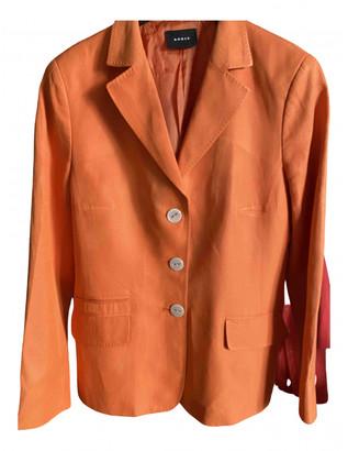Akris Orange Cotton Jackets