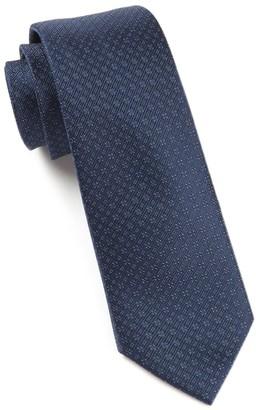 Tie Bar Speckled Navy Tie