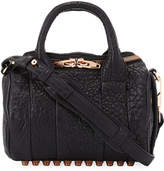 Alexander Wang Round Smooth Leather Satchel Bag, Black