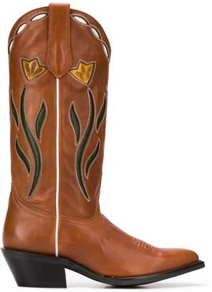 Ash Daisy Print Cowboy Boots