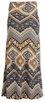 Gravity Threads Women's Fashion Designer Pattern Span Maxi Skirt, Camouflage