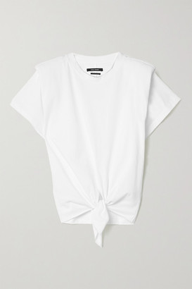 Isabel Marant Belita Tie-front Cotton T-shirt - White