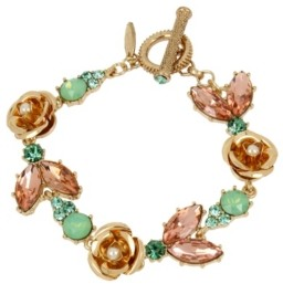 Miriam Haskell New York Flower Stone Bracelet