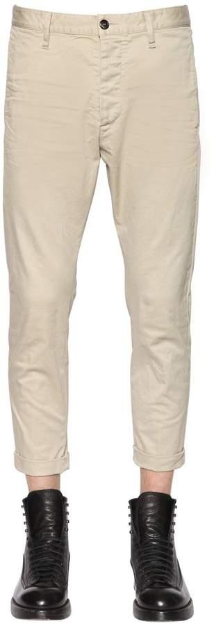 DSQUARED2 16cm Stretch Cotton Twill Pants