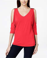 INC International Concepts I.n.c. Petite Cold-Shoulder Hardware Top, Created for Macy's
