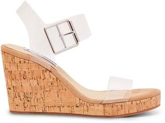 Steve Madden Bloom Translucent Platform Wedge Sandals