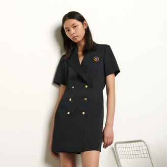 Sandro Tailored dress with button fastening