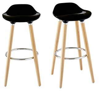 "Ebern Designs Colne Low Back 29"" Bar Stool Color: Black"