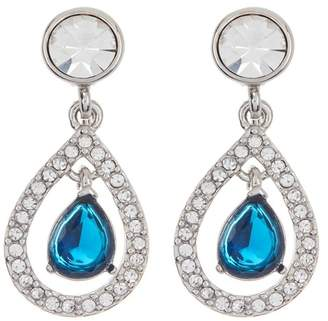 Carolee Pave Crystal & Stone Teardrop Clip-On Earrings
