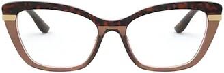 Dolce & Gabbana Eyewear Cat-Eye Frames Glasses