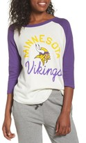 Junk Food Clothing Women's Nfl Minnesota Vikings Raglan Tee
