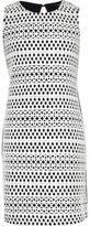 River Island Girls black & white bonded lace dress