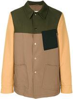 Marni panelled shirt jacket - men - Cotton/Polyester - 50