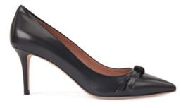 BOSS Heeled pumps in Italian leather with bow detail