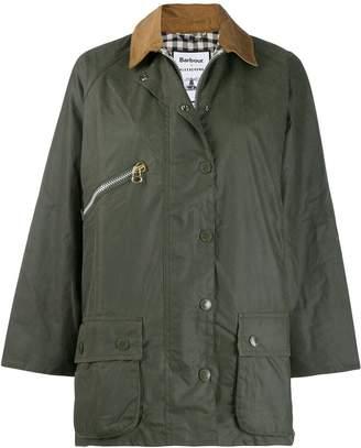 Barbour x Alexa Chung contrast-collar coat