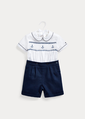 Ralph Lauren Smocked Shirt & Short Set